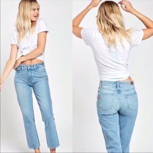 PAGIE Women's High Rise Sarah Straight Jean